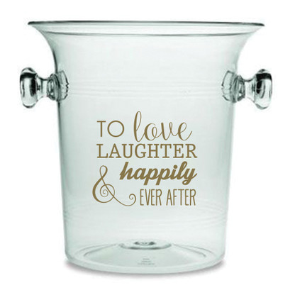 Happily Every After Lucite Champagne Cooler