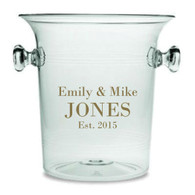 Just Married Lucite Champagne Cooler