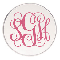 Personalized Coaster, Bubblegum Vinyl