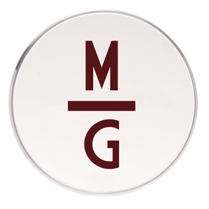 Personalized Coaster, Maroon Vinyl