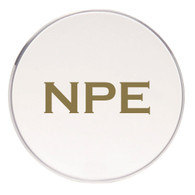 Personalized Coaster, Gold Vinyl