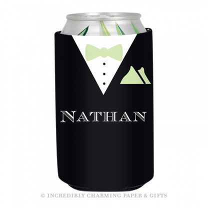 Personalized Formal Groom Koozie in Spring