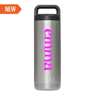 Personalized Yeti Rambler Bottle 18oz - Vinyl