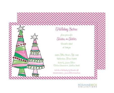 Hottie Trees Holiday Invitation
