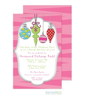 Original Holiday Ornaments Holiday Invitation