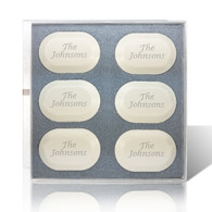Eco-Luxury Personalized Soap 6 Bar Set