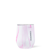Corkcicle Pink Marble 12 oz Stemless Wine