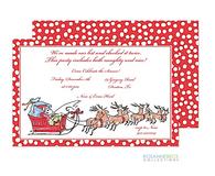 Santa Sleigh Holiday Invitation