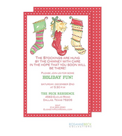 Three Stockings Holiday Invitation
