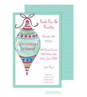 Tall Ornament Holiday Invitation