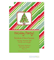 Christmas Stripes Holiday Invitation