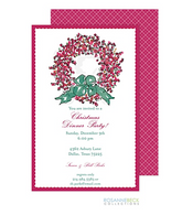 Berry Wreath Holiday Invitation