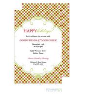 Plaid Holiday Invitation