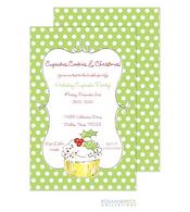 Cupcake Holiday Invitation