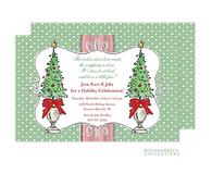 Christmas Topiary Holiday Invitation