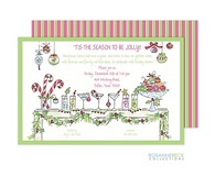 Festive Cocktail Holiday Invitation