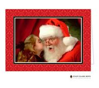 Damask Berry Folded Holiday Photo Card