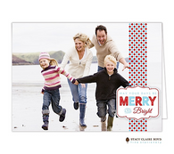 Bright Badge Folded Digital Holiday Photo Card
