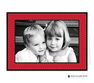 Dashing Through The Snow Red Folded Digital Holiday Photo Card