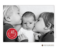 Joyful Year Folded Digital Holiday Photo Card