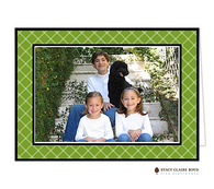 Twin Trellis Green Holiday Folded Digital Holiday Photo Card