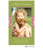 Vintage Wrap Chartreuse Flat Digital Holiday Photo Card