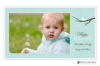 Subtle Songbird Flat Digital Holiday Photo Card