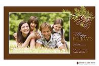 Woodsy Pine Flat Digital Holiday Photo Card