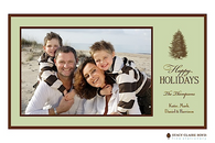 Douglas Fir Flat Digital Holiday Photo Card