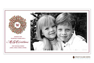 Berry Wreath Flat Digital Holiday Photo Card