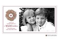 Berry Wreath Flat Digital Holiday Photo Card