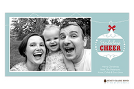 Cheerful Ornament Flat Digital Holiday Photo Card