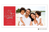 Simple Sentiments Flat Digital Holiday Photo Card