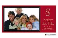Ornamental Garland Flat Digital Holiday Photo Card