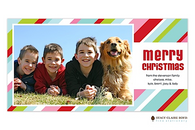 Merry Stripes Flat Digital Holiday Photo Card