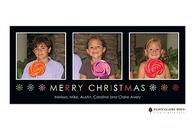 Colorful Christmas Flat Digital Holiday Photo Card