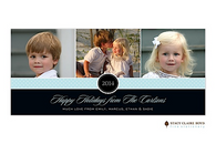 A Very Good Year Blue Flat Digital Holiday Photo Card