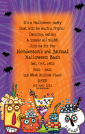 Halloween Cocktails Holiday Invitation
