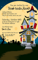 Haunted House Halloween Invitation