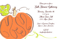 Viney Pumpkin Fall Holiday Invitation