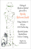 Mummy Halloween Invitation