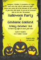 Spooky Pumpkins Halloween Invitation