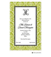Vintage Damask Green Invitation