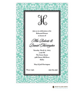 Vintage Damask Mint Invitation
