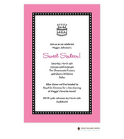 Dots Around Hot PInk Invitation