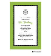 Dots Around Lime Invitation - Birthday Cake
