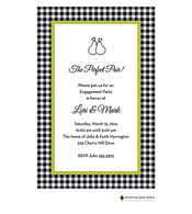 Gleeful Gingham Licorice Invitation