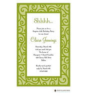 Dancing Vine Green Invitation