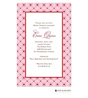 Lattice Bloom Pink Invitation