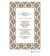 Chateau Orleans Blue Invitation